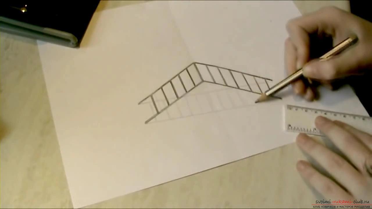 Пошаговые рисунки 3d