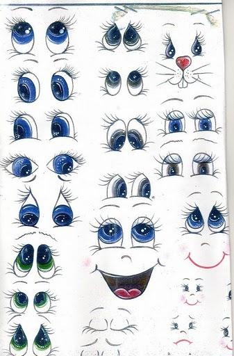 Рисунки глаз для поделки